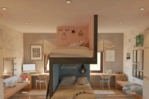 Kids room interior designed by Color N Interior experts.